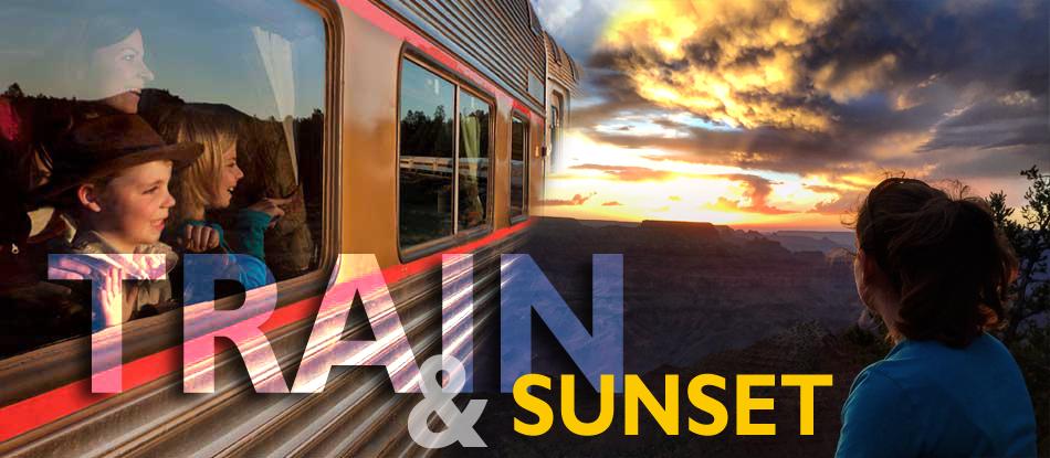 Train & Sunset